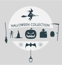 Set of silhouettes for Halloween party vector image vector image