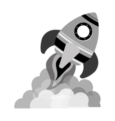 space rocket vehicle icon vector image