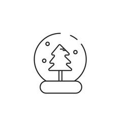 thin line snow globe icon vector image vector image