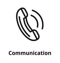 communication thin line icon vector image