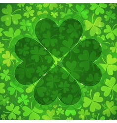 Green clover shape on light clovers background vector image vector image