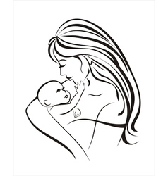 mama and baby vector image vector image