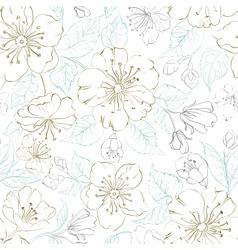Seamless pattern scatch of spring sakura vector image