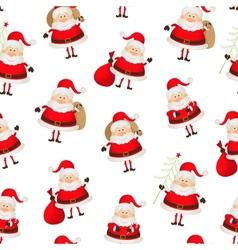 seamless pattern set of Santa Clauses vector image vector image