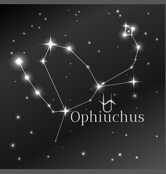 secret symbol of ophiuchus zodiac sign horoscope vector image