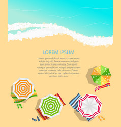 summer time background sunny beach in flat design vector image