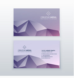 Creative low poly business card design vector