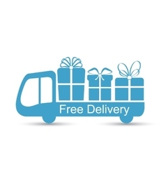 Free delivery flat icon vector image