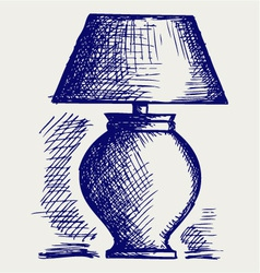 Lamp for the bedroom vector image vector image