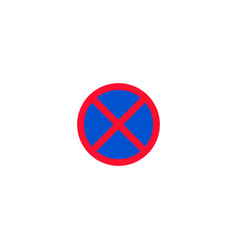 no stopping and parking roadsign isolated vector image vector image
