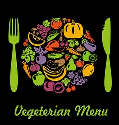 VegetarianMenu vector image vector image