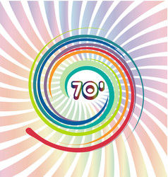 70s background with abstract colorful swirly vector image