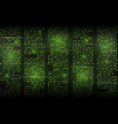 abstract binary background green streaming code vector image