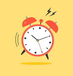Alarm clock ringing wake up time icon vector