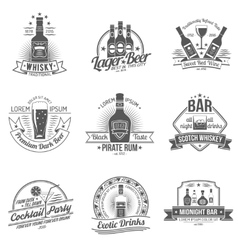 Alcohol Label Set vector image