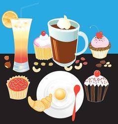 Beautiful tasty breakfast vector image