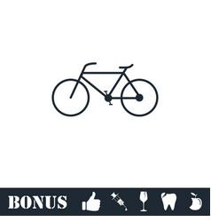 bicycle icon flat vector image