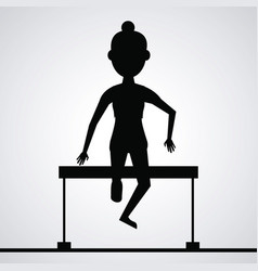 black silhouette faceless athlete woman jumping a vector image