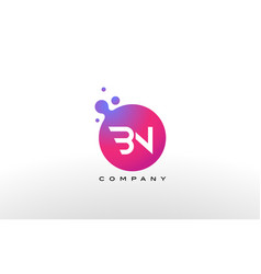 Bn letter dots logo design with creative trendy vector
