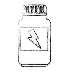 bottle of energy protein vector image
