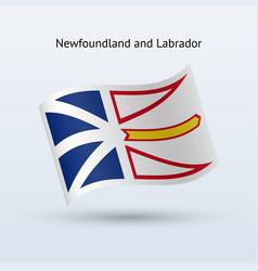 Canadian province newfoundland and labrador vector