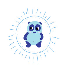 charming cartoon blue bear vector image