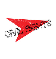 civil rights rubber stamp vector image