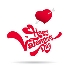 congratulations on valentine day vector image