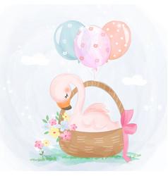 Cute flamingo vector