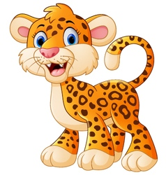 Cute leopard cartoon vector