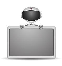 cute robot with board vector image