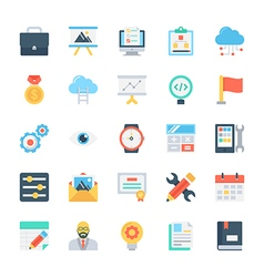 Design and Development Colored Icons 4 vector image