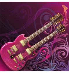 double neck guitar vector image