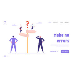 doubts and confusion website landing page vector image