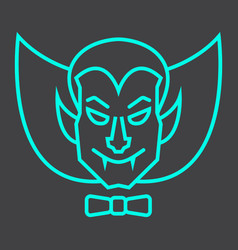 Dracula vampire line icon halloween and scary vector