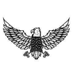 eagle on white background design element vector image