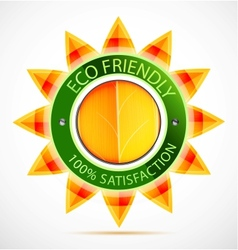 Eco friendly sun label vector image