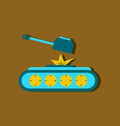 Flat icon design collection tank explosion vector