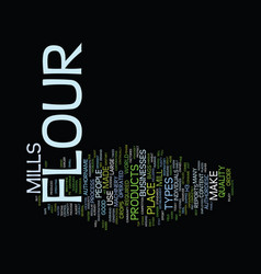 Flour mill text background word cloud concept vector