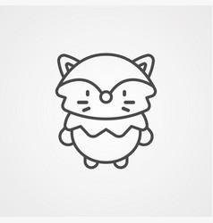 fox icon sign symbol vector image