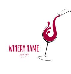 Glass wine with splash logo design vector