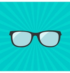 Glasses icon Sunburst background vector