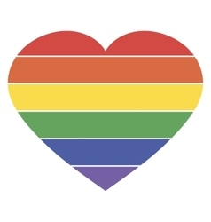 Heart rainbow icon lgbt community sign vector