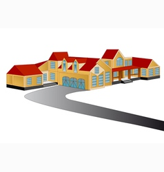 house isolated on white background vector image vector image