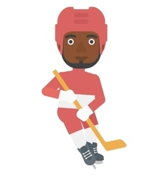 Ice-hockey male player vector