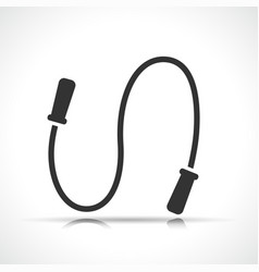 jumping rope black icon vector image