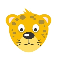 Leopard Face in Flat Design vector