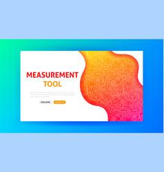 Measurement tool landing page vector