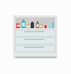 Medicine drawers medicaments vector