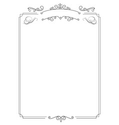 Ornamental retro elegant border and white vector